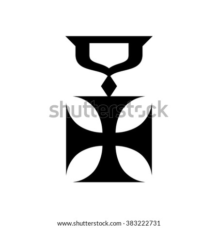military cross icon  simple