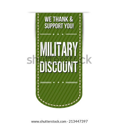 military discount banner design