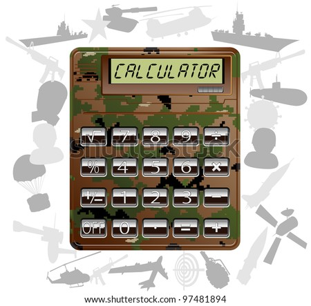 military electronic calculator. vector illustration 2