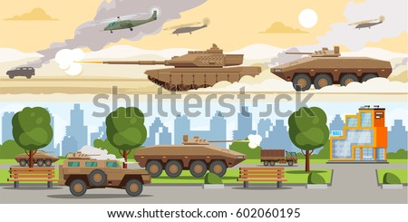military equipment horizontal