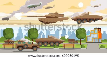 military equipment horizontal