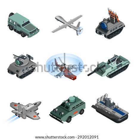 military equipment isometric