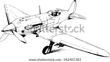 military fighter jet drawn in