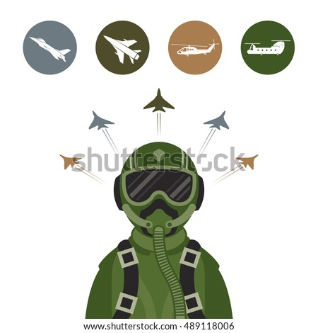 military fighter jet pilot with