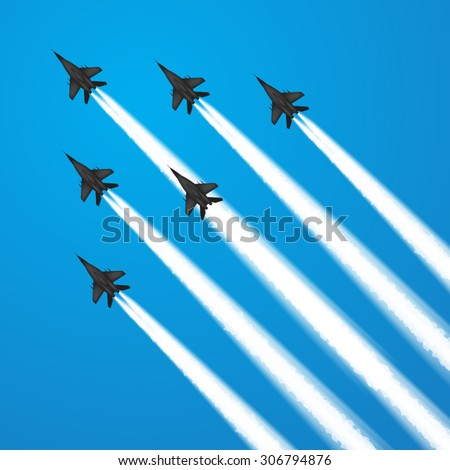 military fighter jets during