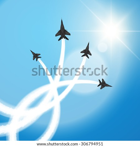 military fighter jets perform