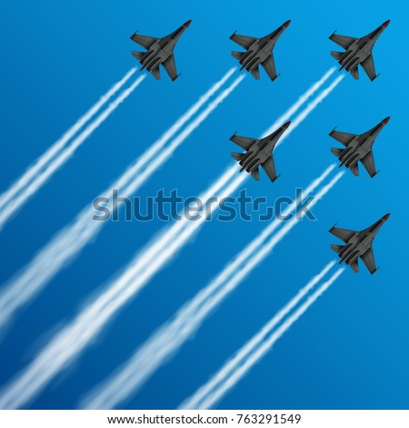 military fighter jets with
