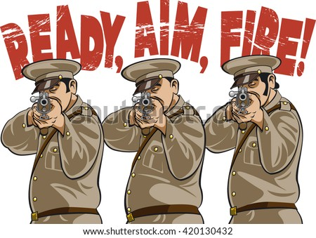 Shutterstock military firing squad aiming