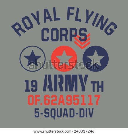 military flying typography  t