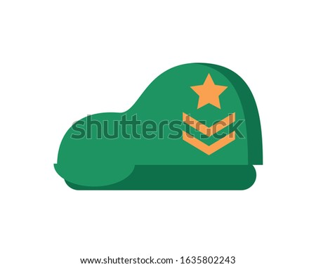 military force green beret isolated icon vector illustration design