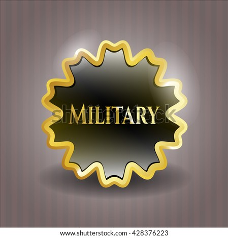 Military gold badge