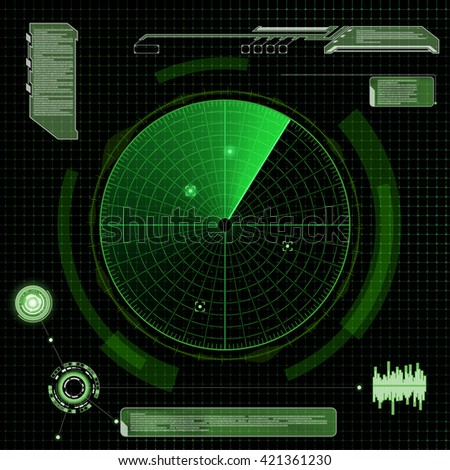 military green radar screen