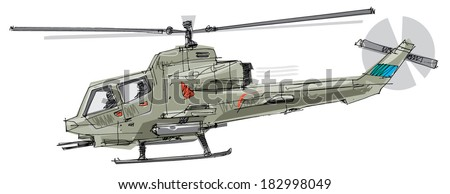 military helicopter   cartoon