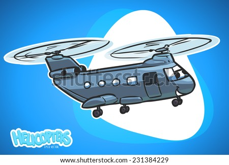 military helicopter 2 cartoon