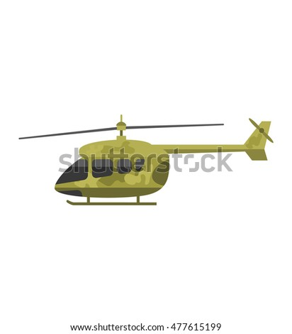 military helicopter hawk flat