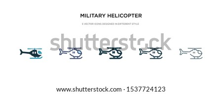 military helicopter icon in