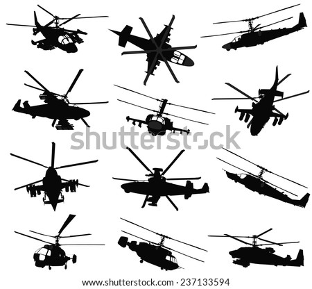 military helicopter silhouettes