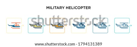 military helicopter vector icon