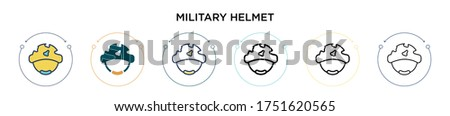 military helmet icon in filled