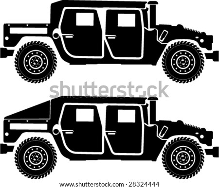 military hummer silhouettes