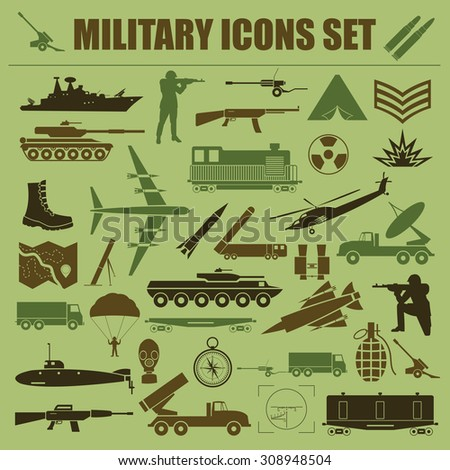 military icon set constructor