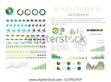 military infographic elements