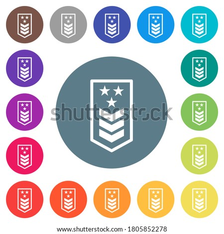 military insignia with three