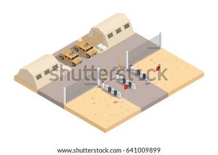 military isometric composition