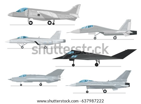 military jet aircraft isolated