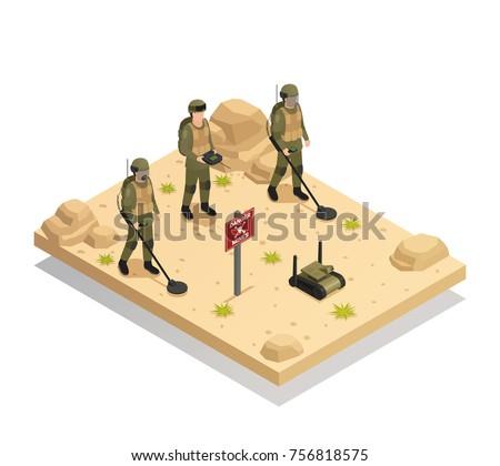 military landmine clearing