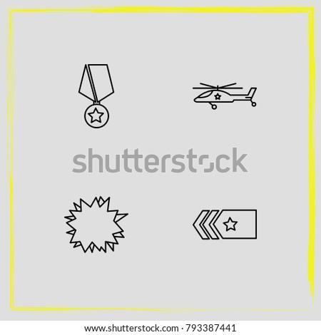 military line icon set straps