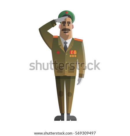 military men salute army forse