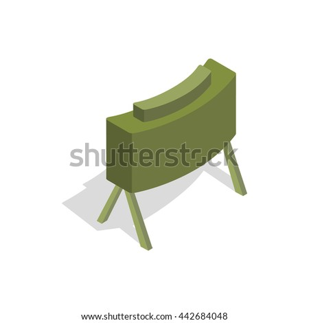 military mine icon in isometric
