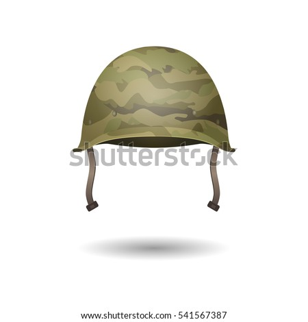 military modern helmet with