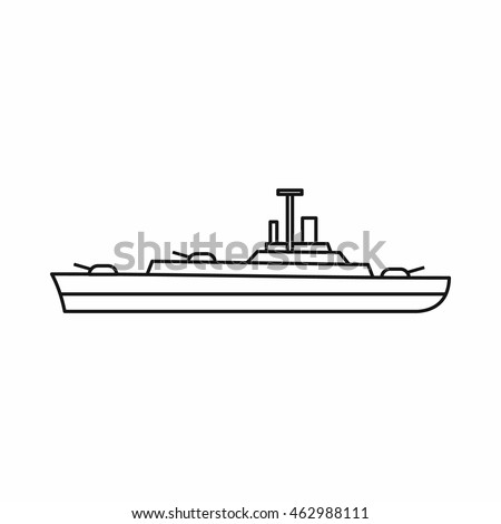 military navy ship icon in