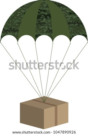 military parachute with