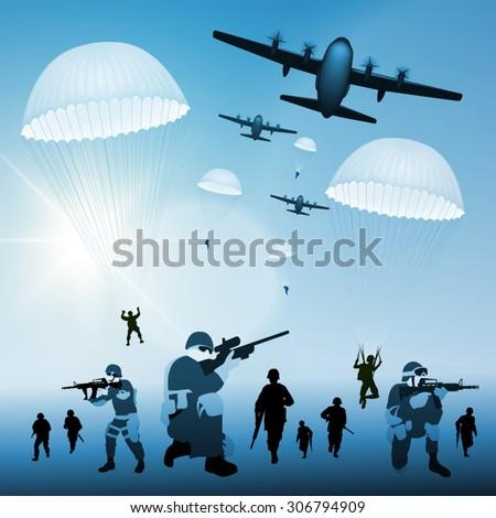 military plane drops