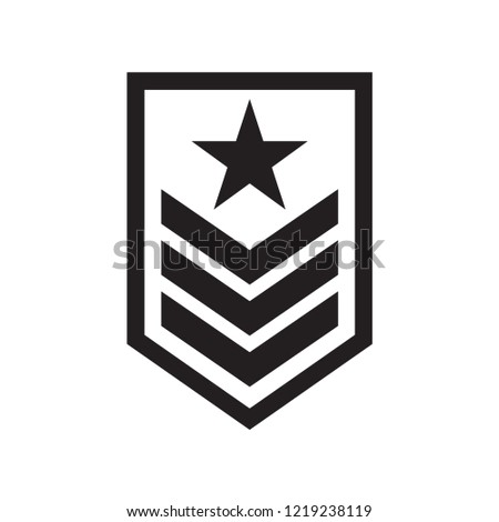 military rank badge icon in trendy flat style  #1219238119