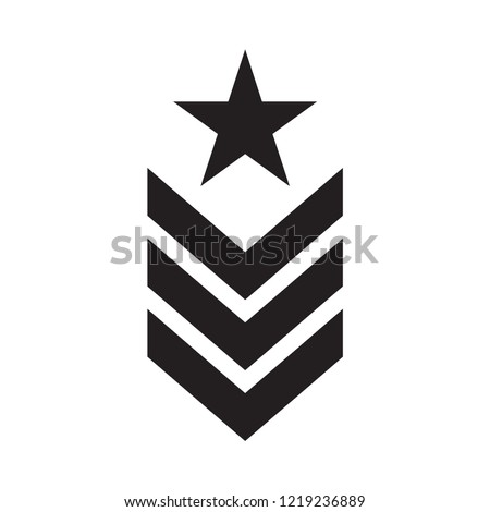 military rank icon in trendy