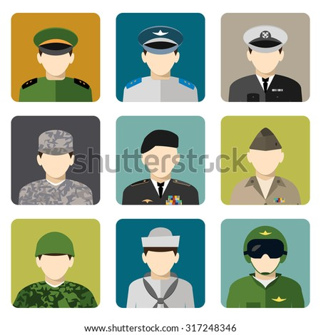 military servicemen in uniform