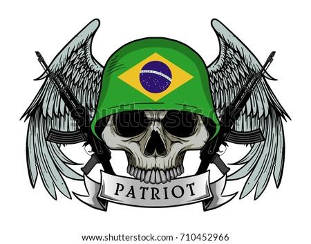 military skull or patriot skull