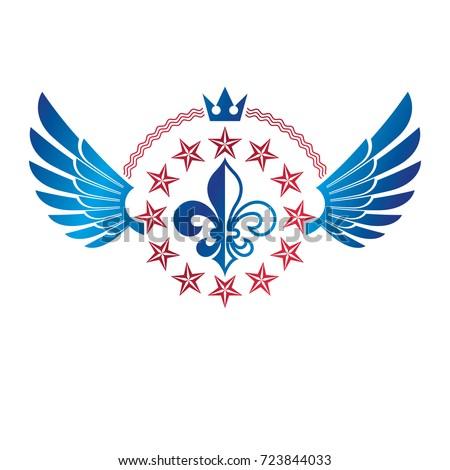 military star emblem  winged