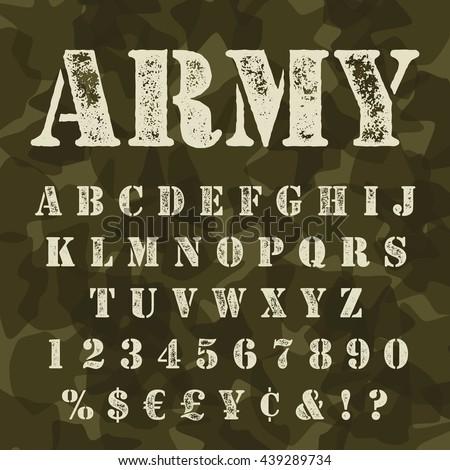 military stencial alphabet