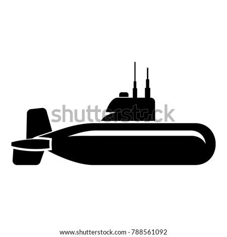 military submarine icon simple