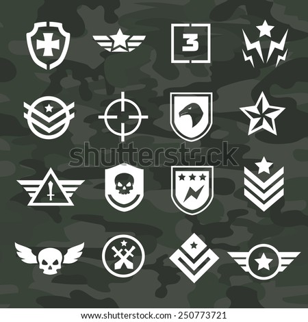 military symbol icons and logos
