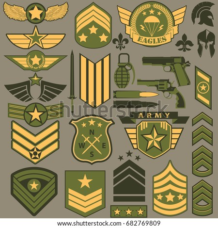 military symbol set  army