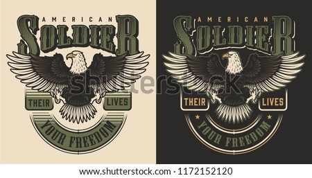 Military t-shirt print concept. Vector illustration