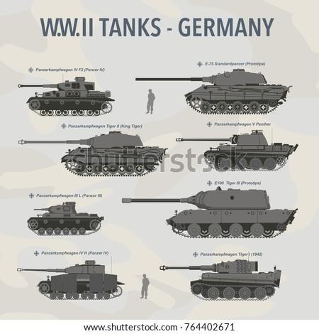 military tank flat vector