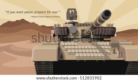 military tank in a desert