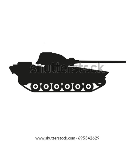 military tank sign illustration